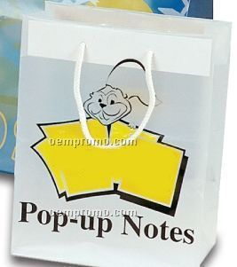 Frosted Clear Plastic Euro Shopping Bag W/Rope Handles - 3.5 Mil (8