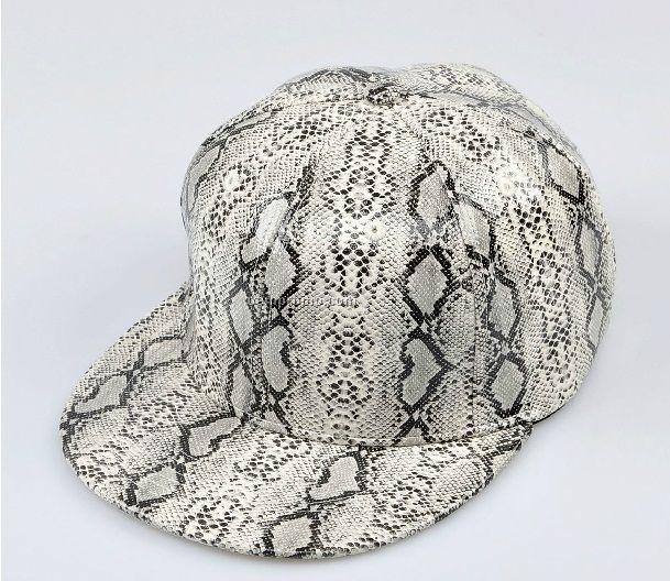 Full snakskin PU snapback hat