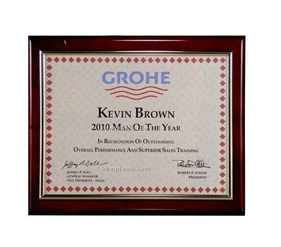 Genuine Piano Wood Slide-in Certificate Frame