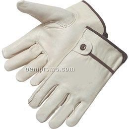 Grain Cowhide Driver Gloves (S-xl)