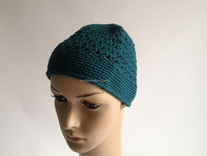 Green hand made Crocheted knitwear