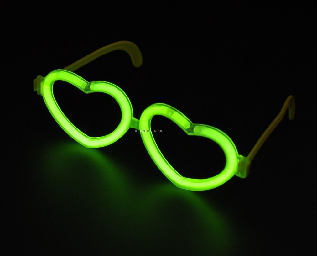 Heart Shape glow eyeglasses in the dark
