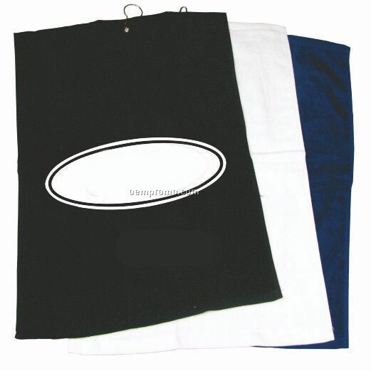 Hemmed Cotton Golf Towel