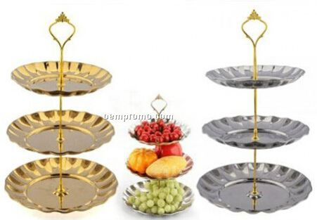 High Tea Time 3 Tiered Fruits, Cakes & Desserts Plate