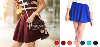 High Waist Skater Skirt