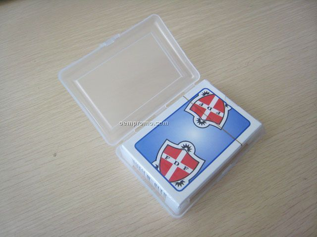 Hot playing card with plastic box