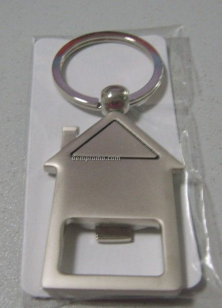 House Bottle Opener W/Key Chain