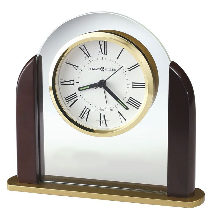 Howard Miller Derrick Glass Arch Tabletop Alarm Clock (Blank)