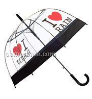 I Love Rain Print Umbrella