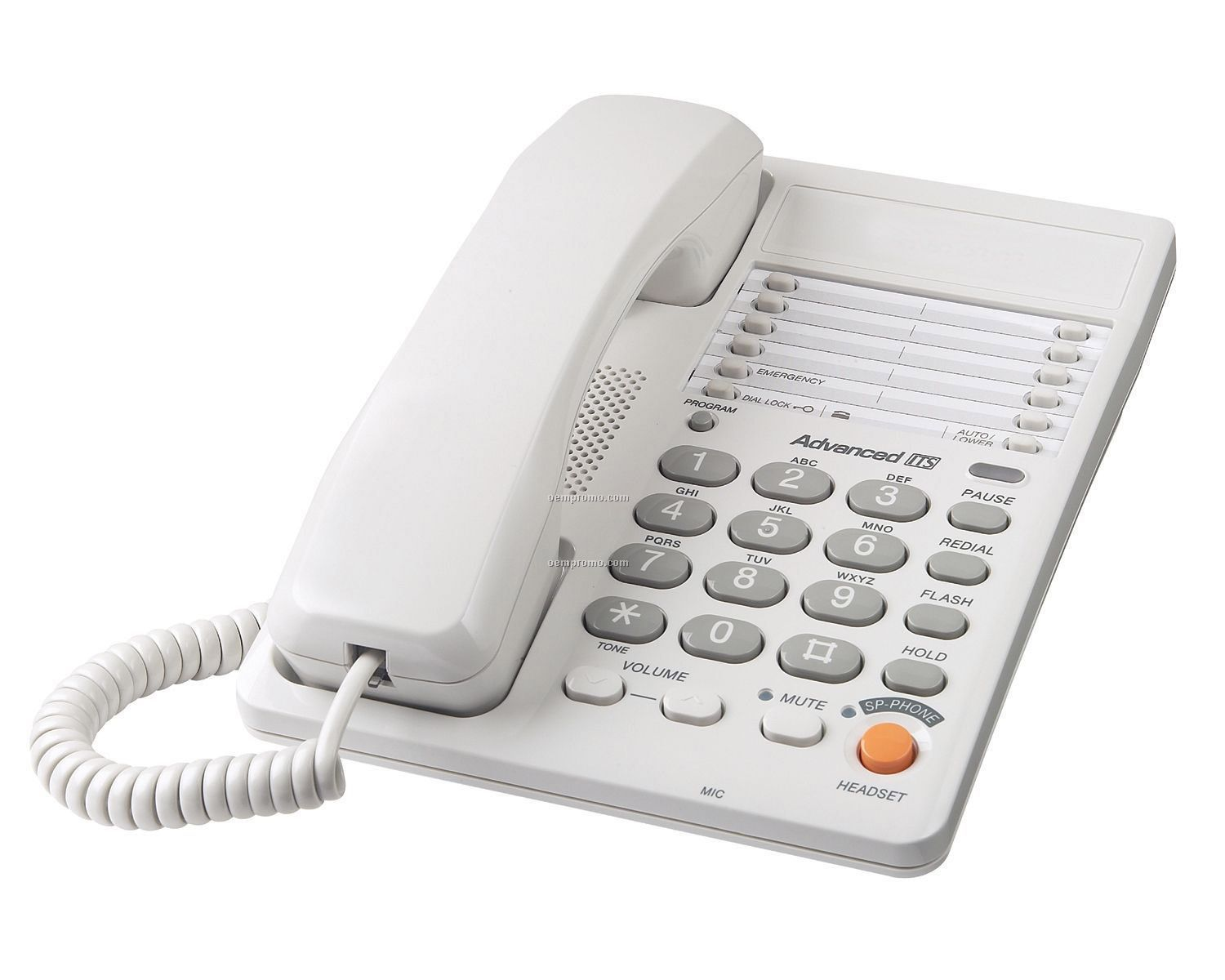 Integrated Corded Telephone (White)