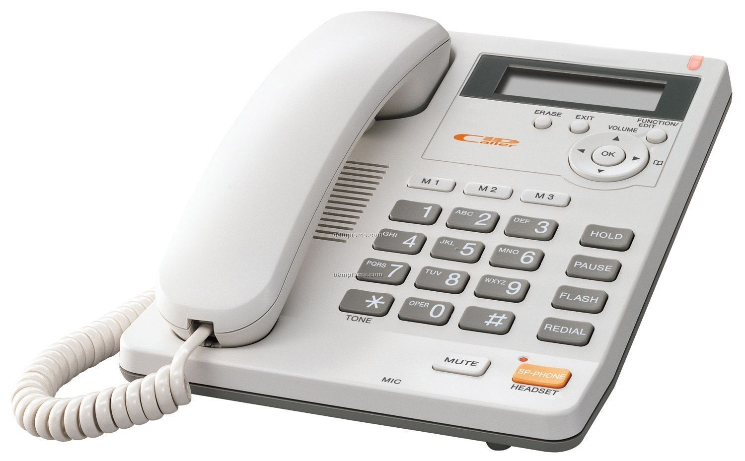 Integrated Corded Telephone System (White)