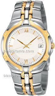 Ladies Watch W/ White Dial And Two Tone Bracelet