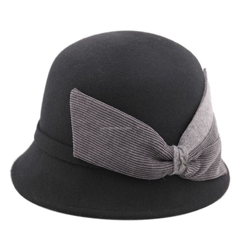 Lady fedora with special bow at back