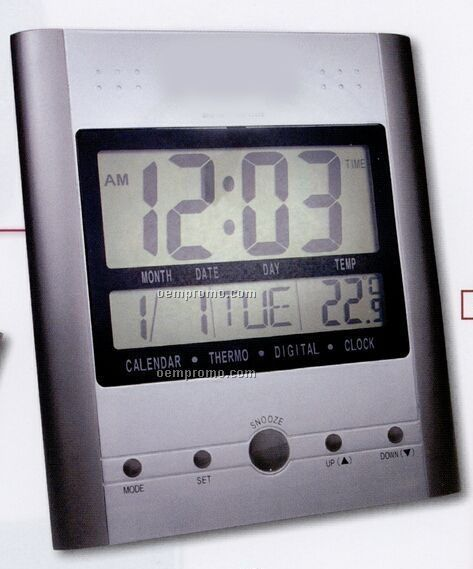 Large Digital Clock/ Calendar/ Thermometer