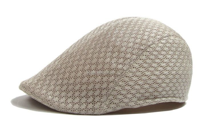Light grey cool mesh beret