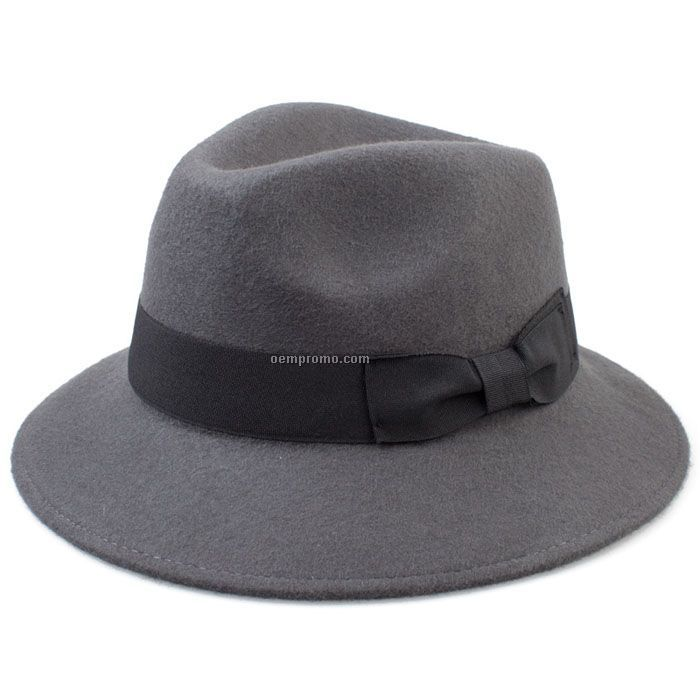 Man`s grey ganster fedora