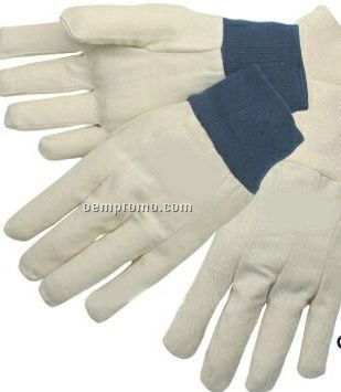 Men`s & Ladies` Canvas Gloves W/ Natural Knit Wrist