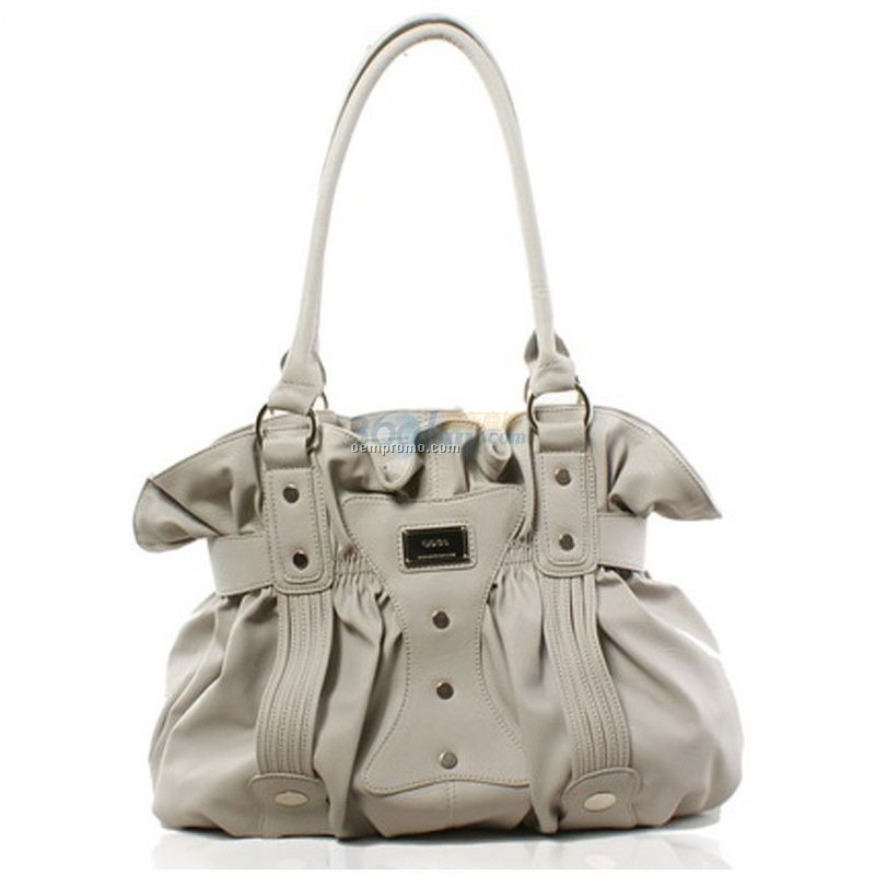 Multi Color Shayla Stone Wash Cowhide Gathered Flap Bag