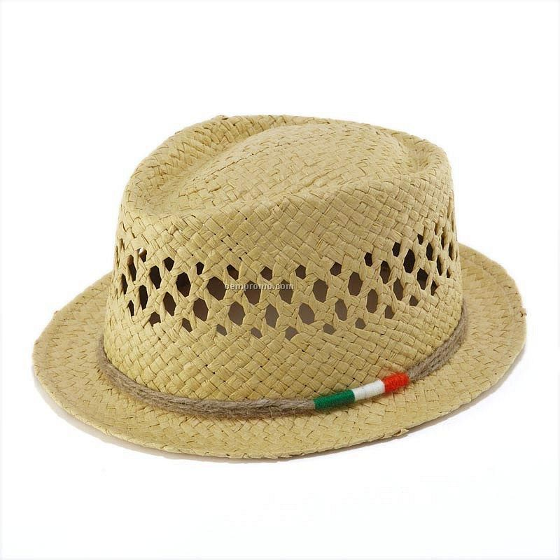 Natural color fedora straw hat