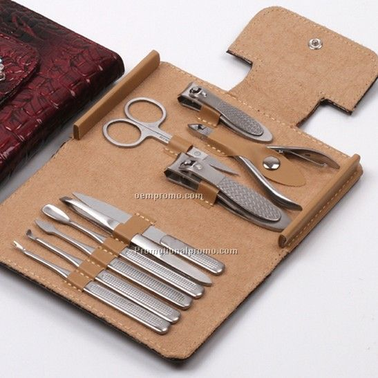 New style PU leather nail clipper set