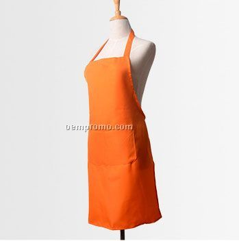 No Tie Extra Long Water Proof Bib Apron (Blank)
