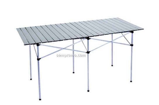 Outdoor folding trestle table portable aluminum table china wholesale outdoor folding trestle - Guarding dragon accent table ...