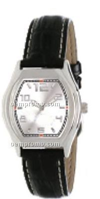 Pedre Women`s Soho Watch W/ Padded Crocodile Grain Strap