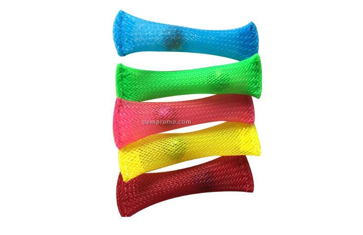 Plastic elastic net tube toy for autistic children with dementia, fidget toy