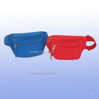 Poly Three Zipper Fanny Pack