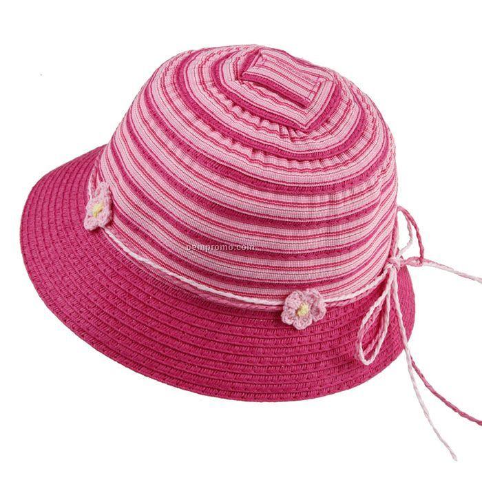 Polyester straw shape hat-girls