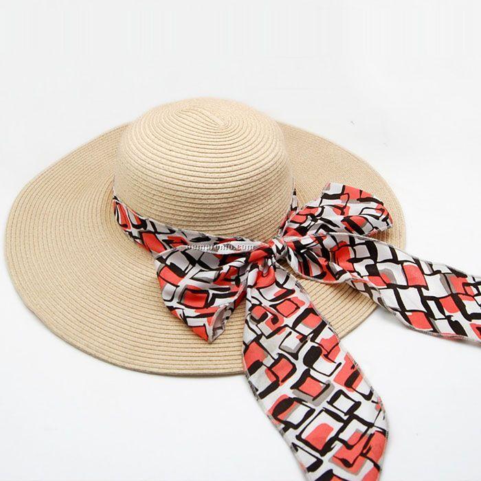 Popular big brim straw hat