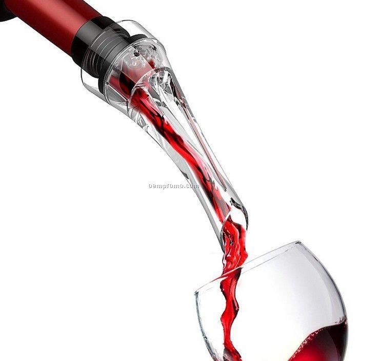 Portable Acrylic Wine Decanter Pourer, Wine Drop Stopper