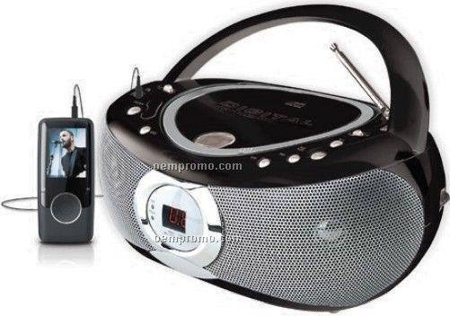 Portable CD Player With AM/FM Radio & Aux Input