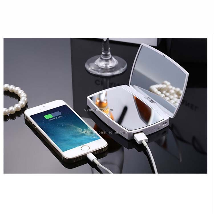 Power bank charger, multifunction makeup mirror power bank