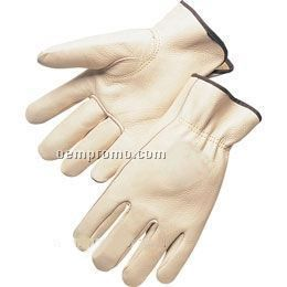 Quality Grain Cowhide Driver Gloves (S-xl)