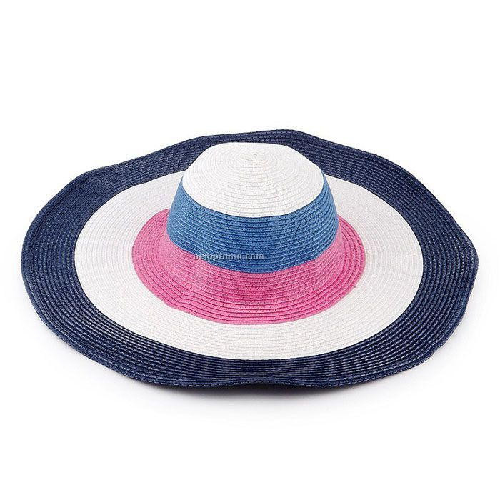 Rainbow woman fashion straw hat