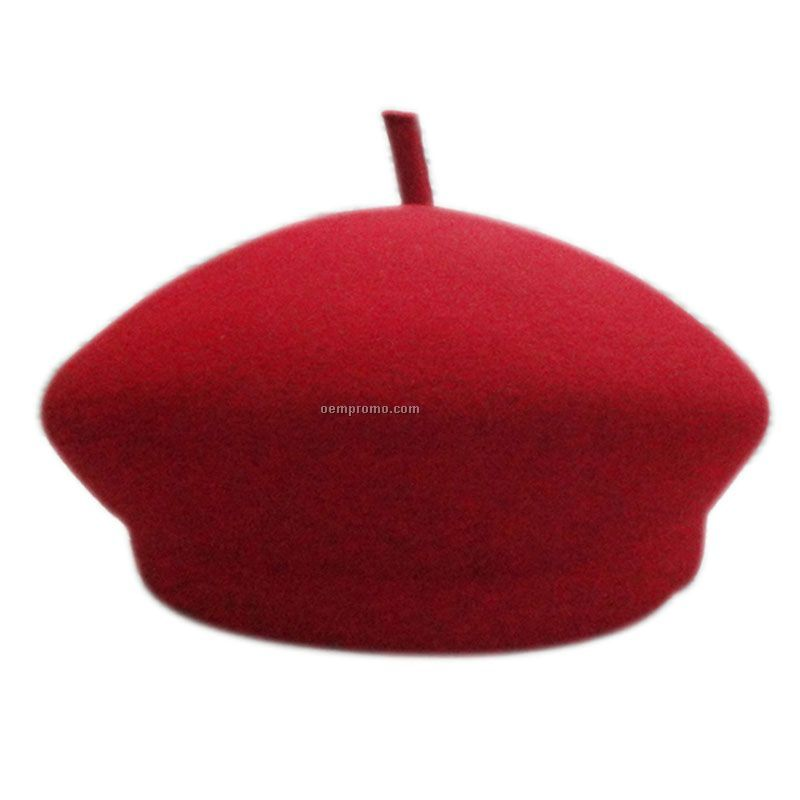 Red fashion beret