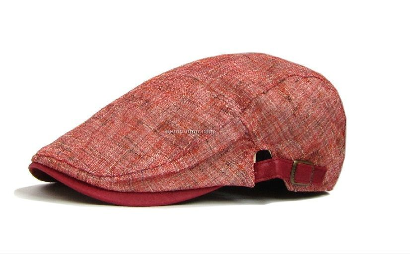 Red jute cotton beret