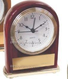 Rosewood Or Walnut Finish Alarm Clock