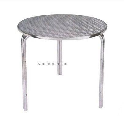 Round Aluminum cocktail table,Aluminum bar table