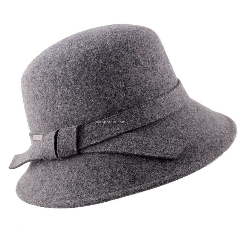 Scala Hats Cloche with GREY Band