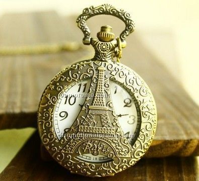 Sided tower, pocket watch necklace