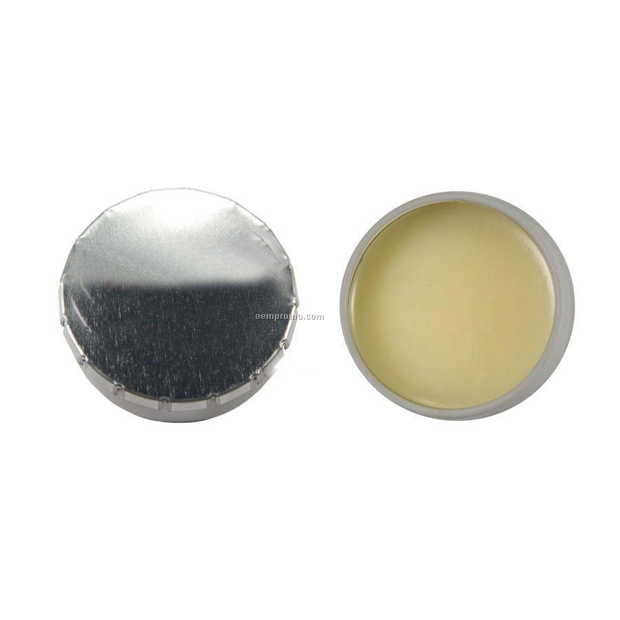 Silver Lip Balm Snap Top Tin