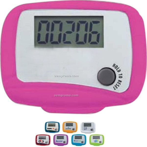Single Function Pedometer With Pocket / Belt Clip