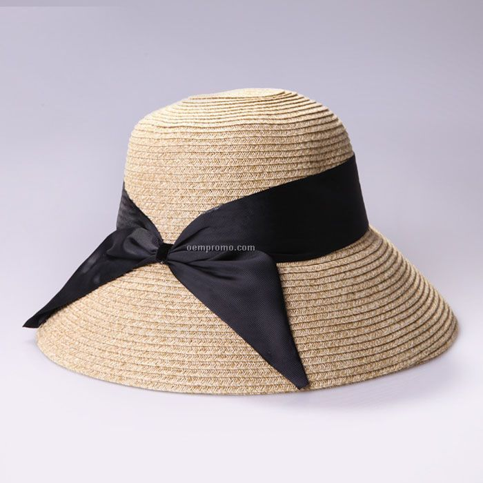 Special bow straw hat