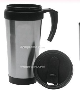 Stainless Steel Travel Mug W/ Spill Proof Lid