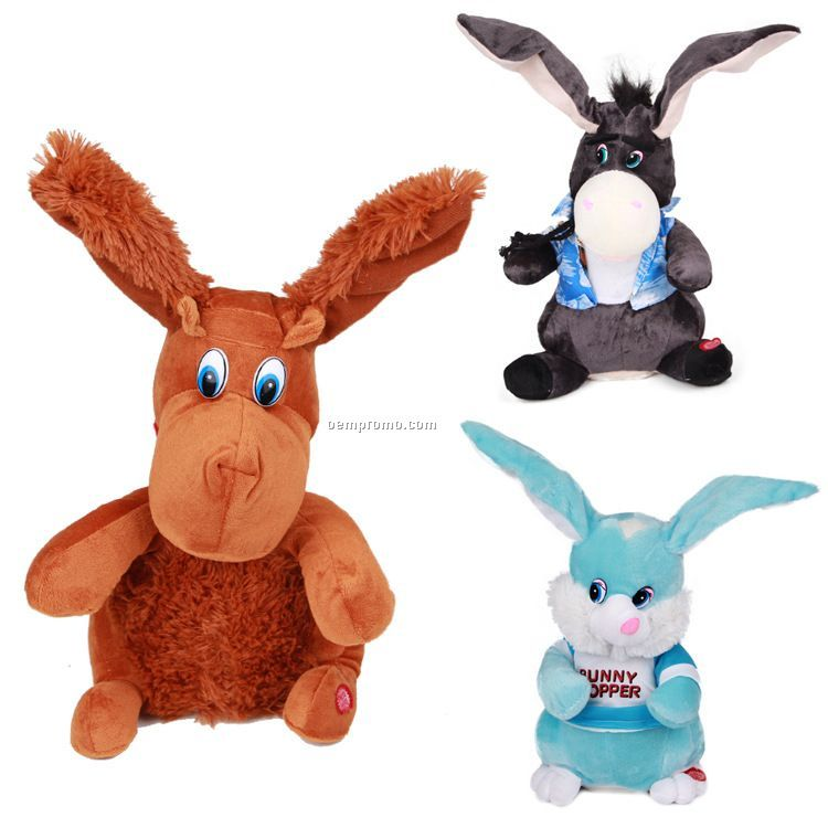 Stock Patriotic Donkey Plush Animal
