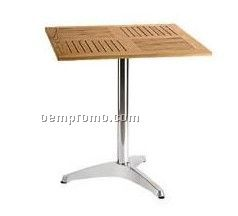 Table with wood desktop and aluminum leg