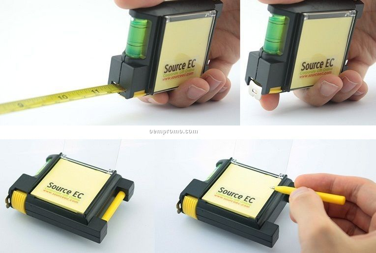 Tape Measure With Memo pad and pen
