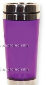 Translucent Purple Travel Tumbler (Printed)